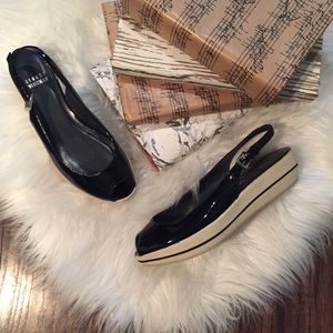 •Stuart Weitzman• Paten Leather Peep Toe Platforms